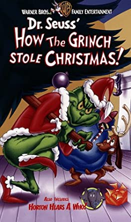 how the grinch stole christmashorton hears a who vhs - How The Grinch Stole Christmas Vhs