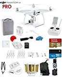 #5: DJI Phantom 4 PRO Quadcopter Drone with 1-inch 20MP 4K Camera KIT + SanDisk Extreme 32GB Micro SDXC Card + Card Reader 3.0 + Snap on Prop Guards + Charging Hub + Range Extender + Harness + Backpack