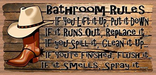 Bathroom Rules - Bathroom Decor