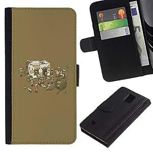 All Phone Most Case / Oferta Especial Cáscara Funda de cuero Monedero Cubierta de proteccion Caso / Wallet Case for Samsung Galaxy Note 4 IV // Funny Mexican Party