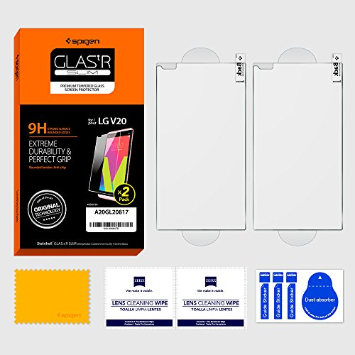 premium selection 5a931 ac8f5 Spigen Tempered Glass LG V20 Screen Protector [ Case Friendly ...