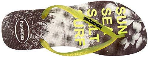 Women's Yellow Havaianas Flop White Slim Paisage Flip Tq7Ufq