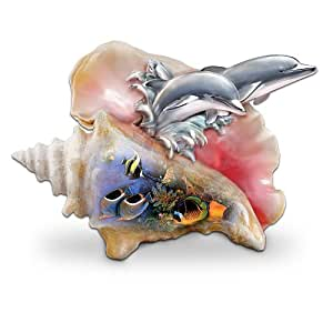 Ocean Art Dolphin Figurine: Waves Of Paradise by The Bradford Exchange