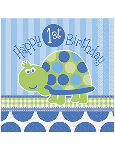 Unique Industries First Birthday Turtle Luncheon Napkins
