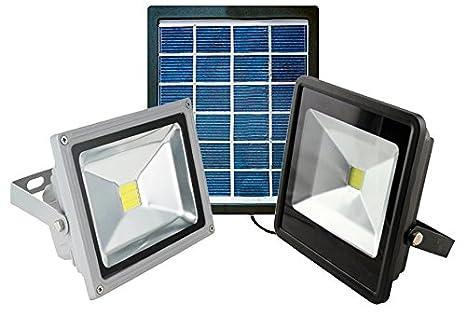 Faro led smd con pannello solare per illuminazione esterna