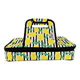 Premium Thermal Insulated Stylish Casserole Carrier to Tote and Keep Best Lasagna Potluck Picnic Holiday Dish & Recipes Hot or Cold for Hours by Domestic Diva LA (Lemon)
