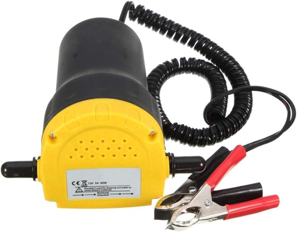 DHOUTDOORS Moto de Voiture de Pompe dextracteur dhuile /électrique de Pompe de Transfert de pour La Voiture Moto Quad 12V 60W