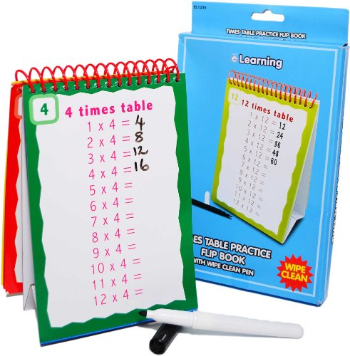 Children's Times Table Practice Flip (Timetable Book)