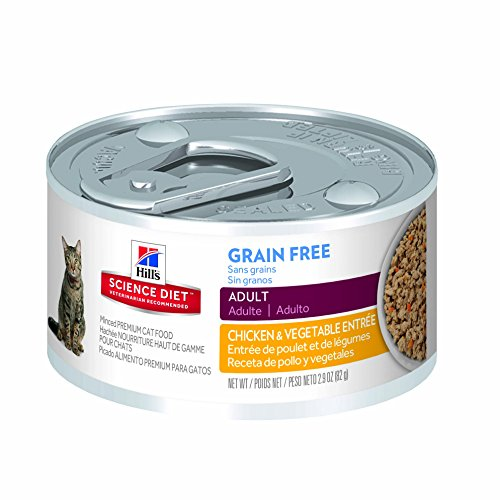 Hill's Science Diet Adult Grain-Free Chicken Entree Cat Food Can, 2.9-Ounce, 24-Pack (Hills Science Diet Cat Food A D compare prices)