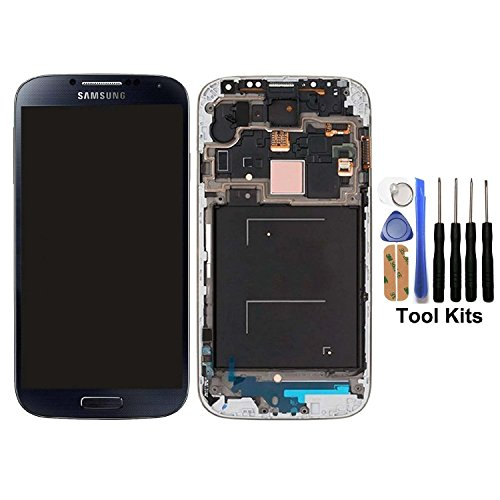 cellphoneage for Samsung Galaxy S4 SIV New LCD Screen Replacement With Frame(GSM Models - T-Mobile M919 AT&T I337)Full Set Display Touch Screen Digitizer Assembly + Free Tool Kits (Black) (Tmobile Galaxy S4 Lcd Replacement)