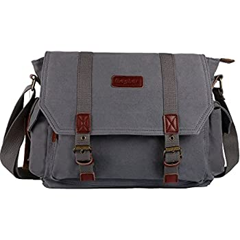 Amazon.com: Rustic Town Canvas Messenger Bag Laptop Bag School ...