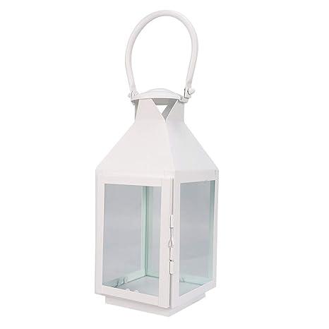 Vosarea Vintage vela linterna colgante de vidrio candelabro para ...