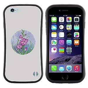 "Hypernova Slim Fit Dual Barniz Protector Caso Case Funda Para Apple (5.5 inches!!!) iPhone 6 Plus / 6S Plus ( 5.5 ) [Tarjeta Dibujo Flores en colores pastel""]"