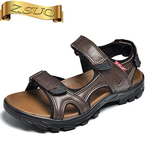 Xing Lin Sandalias De Hombre La Caída De Los Hombres Sandalias Nuevo Calzado Casual Open Toe Calzado De Playa Clip Dedos Sandalias De Juventud Dark brown