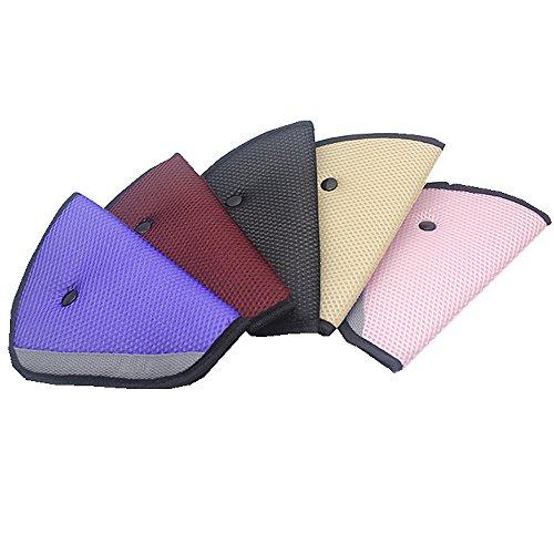 CHILDHOOD Car Seat Strap Belt Cover Case Seatbelt Adjuster 2 Pack/Set Color Random