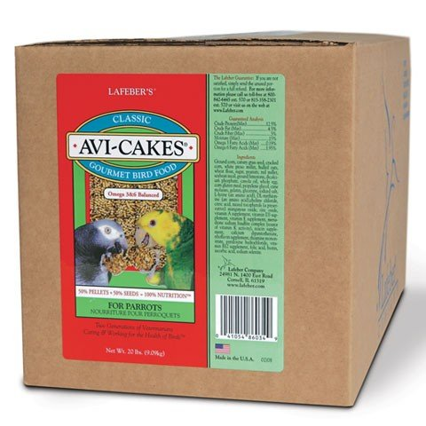 LAFEBER'S Classic Avi-Cakes for Parrots 20 lb by LAFEBER'S