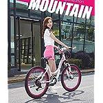 GPAN-24-Pollici-Bici-Mountain-Bike-Donna-Bicicletta-27-velocitFreni-a-Disco-e-Sospensione-Telaio-in-Lega-di-Alluminio-MTB-per-Adulti