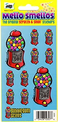 Gumball Machine Bubblegum Scent Scratch and Smell Scrapbook Stickers (10297)