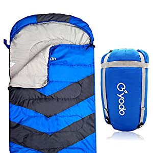 Yodo XL Cold Weather Sleeping Bag Envelope With Compression Sack For 4 Season Camping Hiking TravelingBackpacking And Outdoor Activities