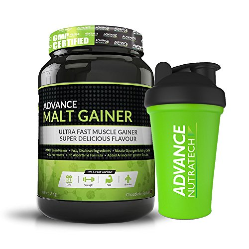 Advance Nutratech Malt Gainer 2kg (4.4 Lbs) Chocolate Malt Gainer With Free Shaker