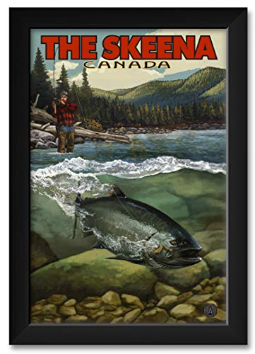 (The Skeena River Salmon Run, British Columbia Canada Framed Art Print by Paul A. Lanquist. Print Size: 12