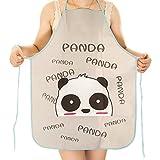 Tailbox Set of 2 Cute Panda Kitchen Bib Apron – Women or Children Waterproof Cartoon Chef Aprons for Cooking (20