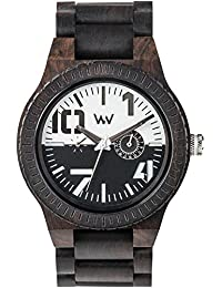 WEWOOD Men's Oblivio Black White Africa Blackwood Scratch-proof Mineral Glass Watch WOBBWH