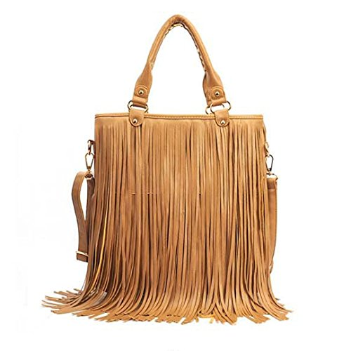 Good Bag ''Fringe Waterfall'' Crossbody Tote Purse Hobo Shoulder Bag
