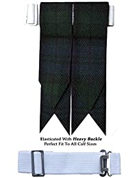 Black Watch Tartan Scottish Flash Kilt Hose/Sock Flashes