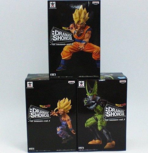 (Dragon ball Z Dramatic Show Case 1st Season vol.1&2 set of 3 Goku Gohan Cell)