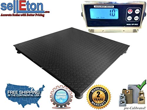 Selleton 10000lb/1lb Floor Scale/Pallet Scale Warehouse/Industrial Scales 4'x4' (48