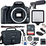 Canon EOS Rebel SL2 Body Only DSLR Camera Kit + 32GB Memory + Canon Camera Bag + Video Pro LED Light + Shotgun Stereo Microphone + Starter Kit