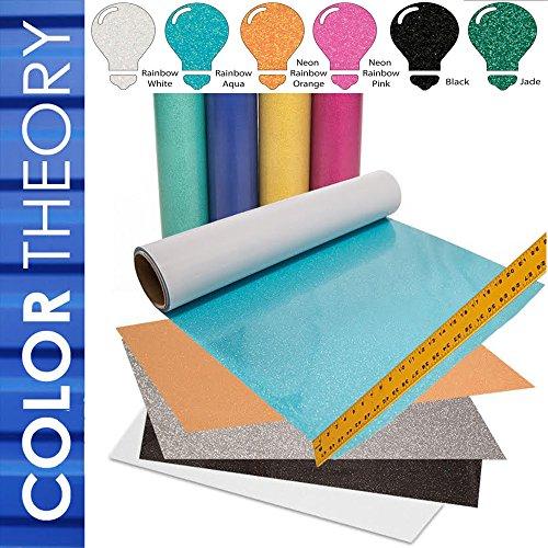 Greenstar Color Theory Bundle Glitter Heat Transfer Vinyl (HTV), 12