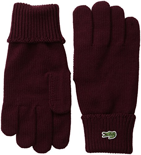 230de8cddd3bb0 Lacoste Men s Green Croc Wool Gloves
