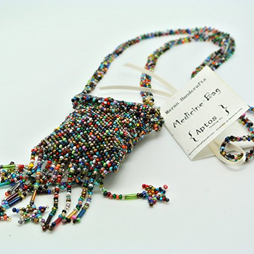 BEAUTIFUL Handmade Beaded Medicine Bag / Pouch / Necklace (Rainbow)