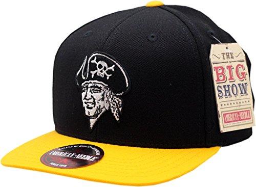 (American Needle Pittsburgh Pirates Snapback Flat Bill Big Show 1967-86 Logo)