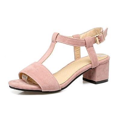 Chicmark Damen Open Toe Sandalen mit Blockabsatz Fashion Sommer Schuhe