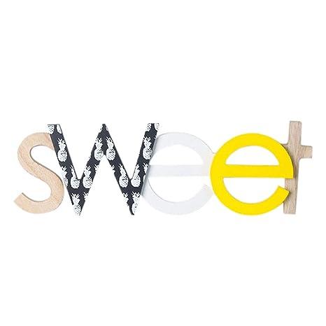 YUENA CARE Lettres Décoratives Murales Ou à Poser Sans Clou Style A Mot  Aanglais Sweet 37x11