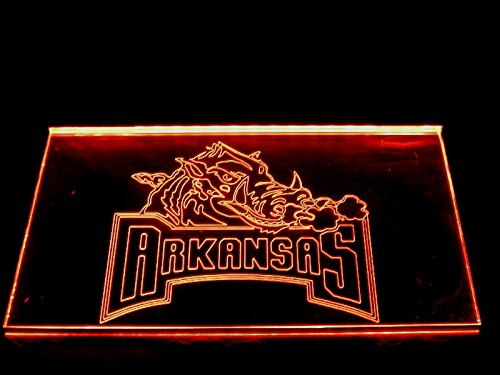 Arkansas Led Sign (NCAA Arkansas Team Logo with (16 kinds of Colors flashing mode+remote control) Neon Light Sign)