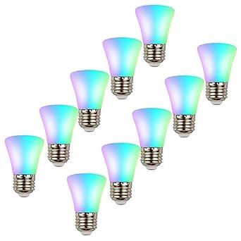 HUAMu E27 RGB, conversión automática de varios colores, bombilla de bajo consumo Edison LED