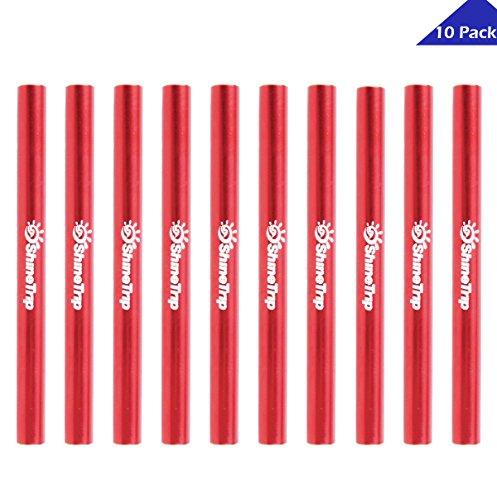 TRIWONDER Tent Pole Repair Splint Repair Kit Spare Repair Tube for Diameter 7.9-8.5mm (Red - 10 Pack)