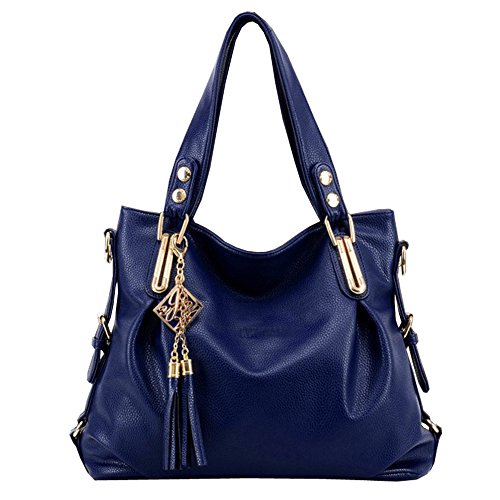 Ftsucq Leather Tassels Shoulder Handbag Tote Messenger Bags Top Handle Satchels