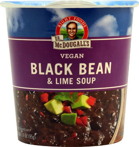 Dr. McDougall's Big Cup Vegan Soup Black Bean and Lime -- 3.4 oz - 2 pc