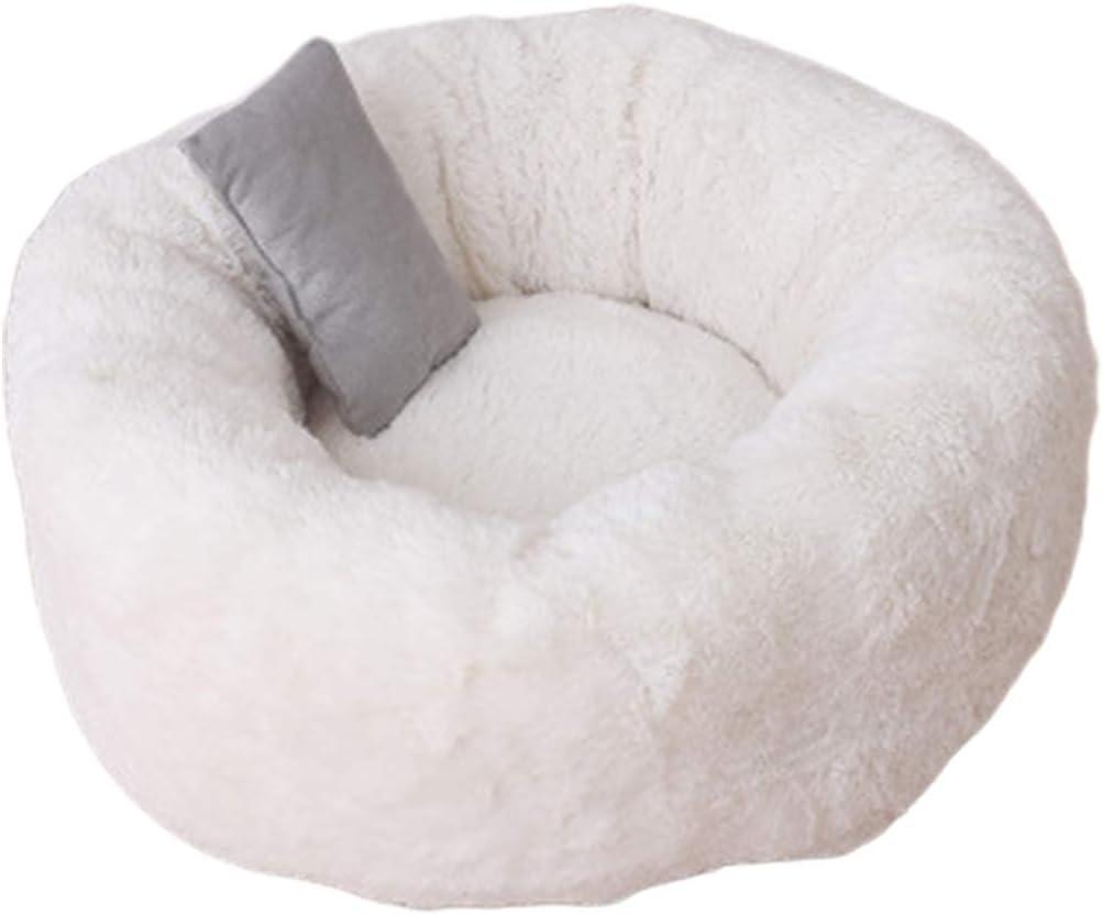 WINS Cama para Perros antiestres Cama Gatos Redondas Suaves Relajante calentita Cama Perro Donut pequeño Mediano Grande: Amazon.es: Productos para mascotas
