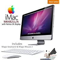 Apple iMac MK482LL/A Retina 5K Display 2TB Desktop Computer w/ Apple Magic Keyboard & Magic Mouse 2 Bundle