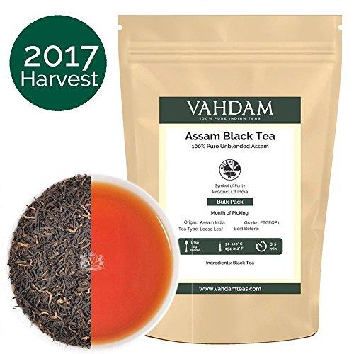 Assam Black Tea Leaves from India (225 Cups), Second Flush Season Harvest Loose Leaf Tea, Garden Fresh Black