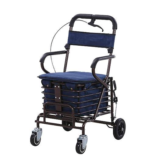Caminador plegable en cuatro ruedas Andador con ruedas, asiento ...