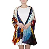 Ethel Ernest Womens Silk Scarf Colorful Ballet Dancer Painting Lightweight Shawl Soft Long Scarves