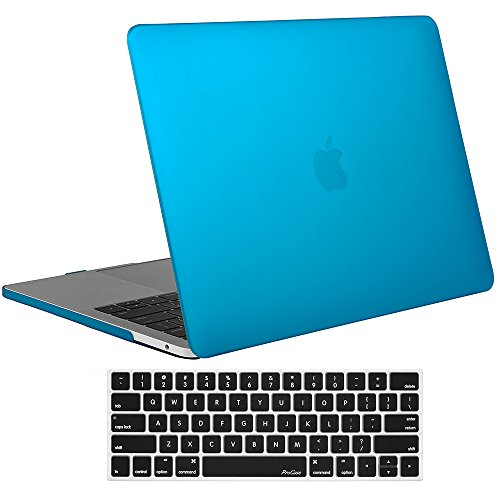 ProCase MacBook Pro 13 Case 2018 2017 2016 Release A1989 A1706 A1708, Hard Case Shell Cover and Keyboard Skin Cover for Apple MacBook Pro 13 Inch with/Without Touch Bar and Touch ID -Sky Blue
