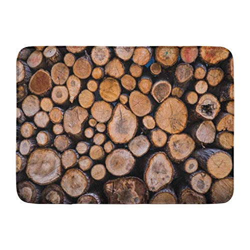 YGUII Doormats Bath Rugs Outdoor/Indoor Door Mat Silver Lodge Firewood Wood Hunting Fireplace Chalet Country Bathroom Decor Rug Bath Mat 16X23.6in (40x60cm)